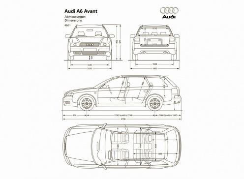Audi A6 Wymiary