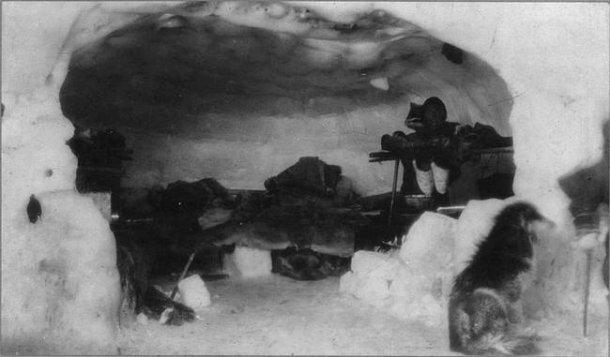 Wnętrze igloo