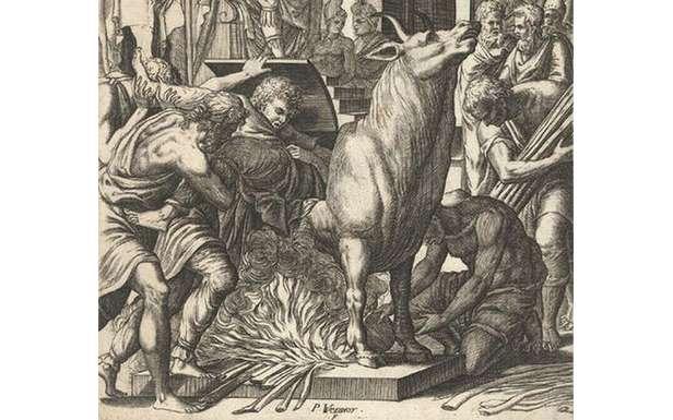 Byk zbrązu - starożytne narzędzie tortur (Fot. Wikimedia Commons))