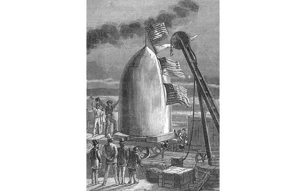"""Ilustracja do książki """"Z Ziemi naKsiężyc"""" (Fot. Wikimedia Commons)"""