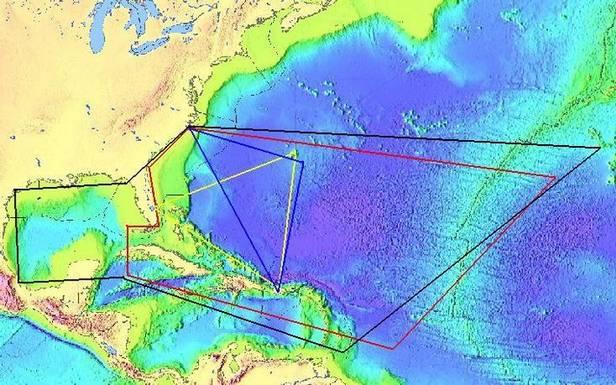 Zasięg Trójkąta Bermudzkiego tokwestia umowna - nikt go precyzyjnie nie wyznaczył