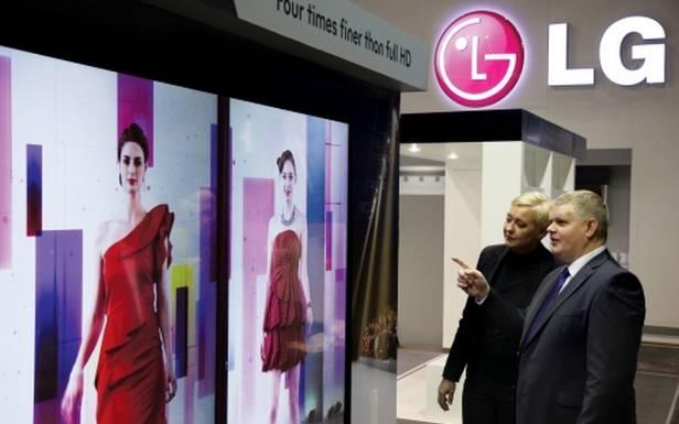 Podczas targów ISE 2013 LG pokazało m.in. 84-calowe wyświetlacze