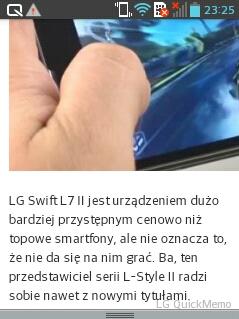 Przeglądarka internetowa wLG Swift L3 II