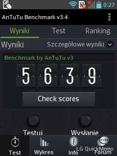 LG Swift L3 II wbenchmarku AnTuTu