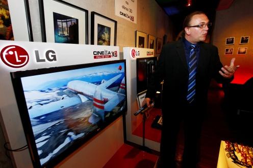 LG Cinema 3D nakonferencji wWarszawie