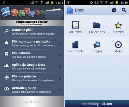 Documents ToGo, Google Docs