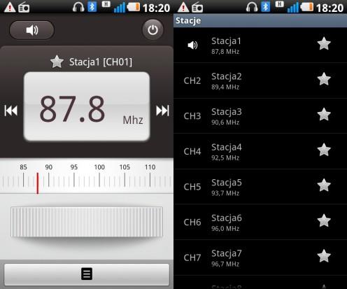 LG Swift UI - radio FM