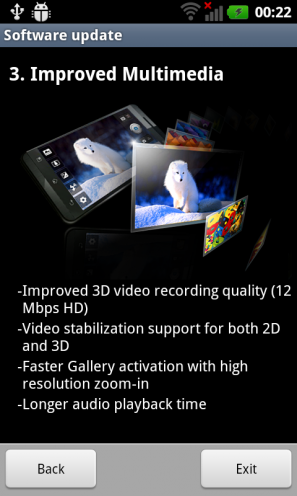 Android Gingerbread dla LG Swift 3D