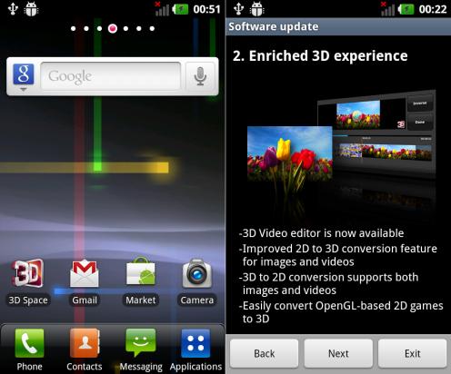 Co wniesie aktualziacja dla LG Swift 3D?