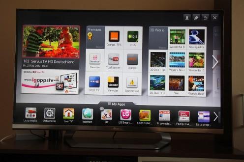 Ekran główny Smart TV