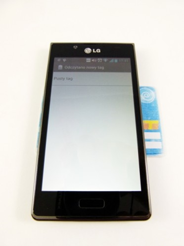 LG Swift L7 - NFC iWarszawska karta miejska