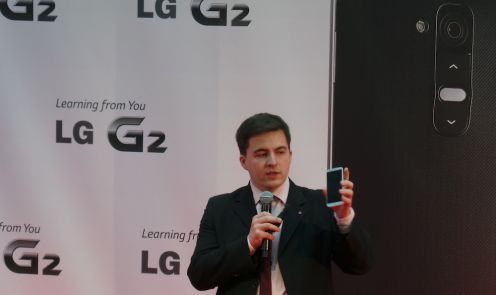 Jarosław Bukowski zLG G2 napolskiej prezentacji