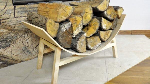 Półokrągły stojak na drewno kominkowe – część 2