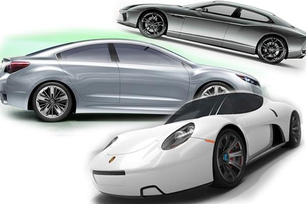 Koncepcyjne modele Lamborghini, Porsche iSubaru